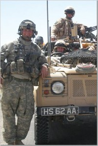 soldier with truck